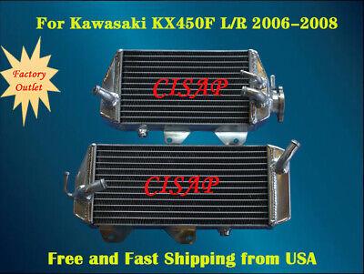 For Kawasaki KX450F 2006 2007 2008 Motorcycle Aluminum radiator (Left+Right)
