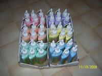 Fabric paint- 36 New bottles pink purple  yellow blue peach etc