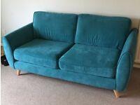 Sofa DFS Aurora bleu 3 seater