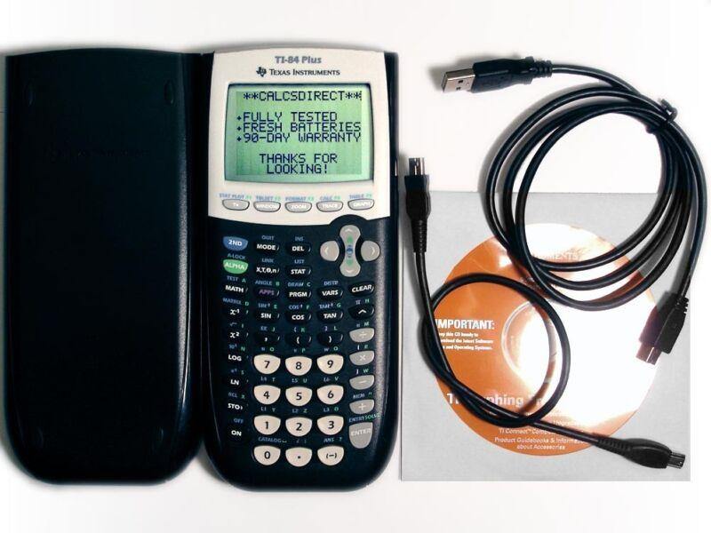 TI-84 Plus Graphing Calculator Texas Instruments TI84+ Graphic