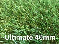 40mm Artificial Grass £9 per m2 - brand new in 2m width up to 25m length