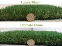 Superb Quality Artificial Grass 30mm £7.50 / 40mm £9 per m2 - In Stock Brand New 2m width up to 25mL