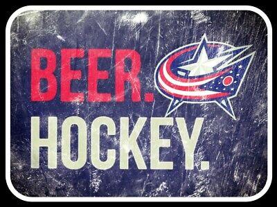MAGNET Columbus Blue Jackets Hockey NHL CBJ CUSTOM Vinyl Beer Hockey Ice  - Nhl Custom Ice