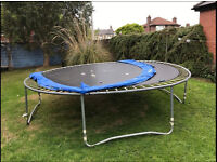 Great 12ft Trampoline with Spring Covers Children Teenagers Family Garden Dismantled