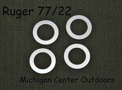 357 Magnum Rifles (4 Pak BOLT SHIMS fits Ruger 77/22 77/17 77/44 77/357 Magnum & Hornet)