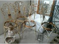 5 Cast iron chairs. ABC Row 5