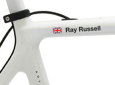6 NAME STICKERS FOR BIKE FRAMES OR HELMETS   BMX CYCLING