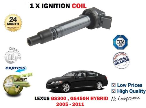 FOR LEXUS GS300 GS450H 90919-02250 2005-2011 1 X IGNITION SPARK PLUG PENCIL COIL