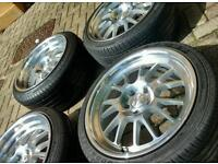 """Klutch ssl14 18"""" alloy wheels 5x112 vw seat Audi Mercedes"""