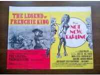 not now darling / the legend of frenchie king ' original vintage cinema poster