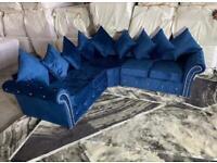 Brand New Corner Sofa In Blue Colour