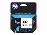 HP 302 Original Ink Cartridge F6U65AE 3 Colours