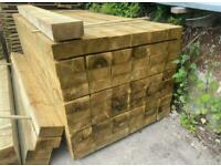 Tanalised Timber Railway Sleepers ~ New
