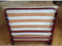 Fold Down Bed With Mattress - Single (seldom used)