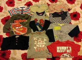 Boys 2-3 year old bundle of TEN t-shirts