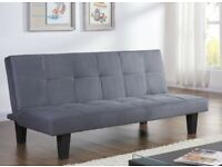 New 3 Seater Grey Fabric 3 Seater Sofa Bed (B34-51105)
