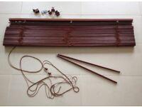 IKEA Lindmon Venetian blind in dark brown wood 120 cm width