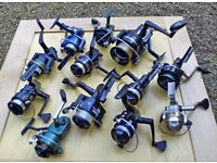 Collection of Fishing Reels