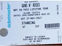 2 x Standing Tickets Guns N Roses Slane Castle