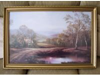 Large Framed Picture, Landscape scene, 33 inches by 22 inches, Quality item