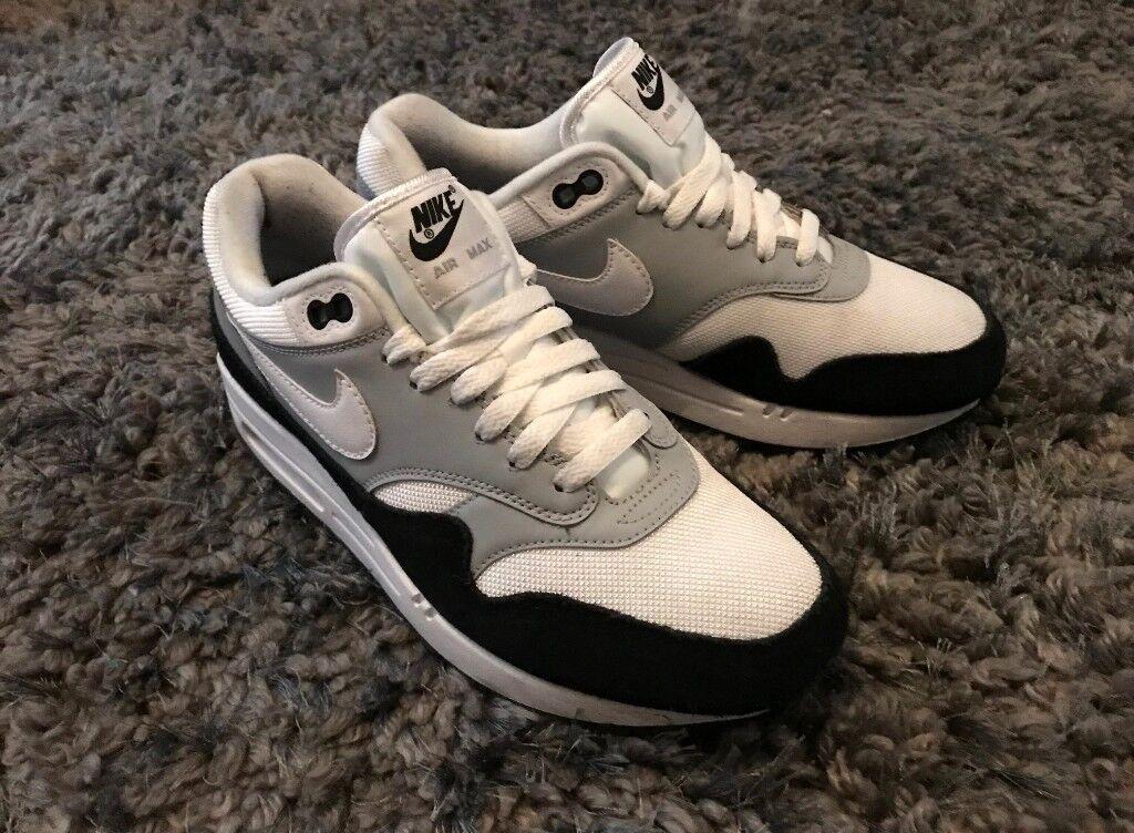 new product e8e02 64f51 Nike Air Max 1 Trainer - Wolf Grey White Black - Size 6