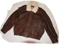 Aviation Leather Jacket, Real Leather, Hardly worn, Excellent Condtion