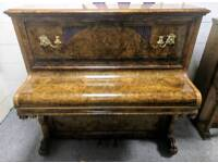 Fantastic ONE OF A KIND Burr Walnut 'Justin Browne' Upright Piano - CAN DELIVER