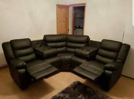 Brand New!!! Leather Corner Recliner Sofas