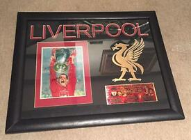 Framed And Mounted Photograph, Hand Signed By Jamie Carragher Of Liverpool FC 2006