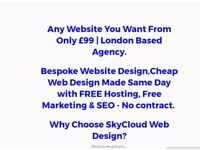 Any website you Desire for only £145 made same day by Skycloud Hosting - Hassle FREE