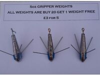 5 Ounce Fishing Breakaways Grippers (Sinkers)