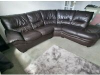 SCS LARGE CHOCOLATE BROWN LEATHER CORNER SOFA - MUST GO TODAY TODAY - CHEAP DELIVERY - £450