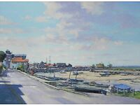 Wells Harbour in Norfolk, Original oil painting by Tim Ball