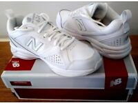 NEW: Size 6 New Balance 624v4 women's white leather Cross trainers sports shoes