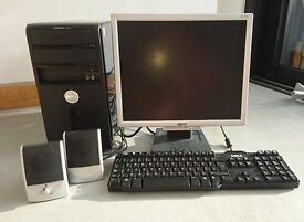 DELL Vostro 200 1GB RAM 138GB HD inc Monitor & Keyboard