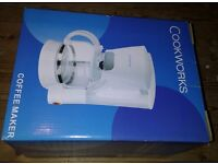Cookworks coffee maker, white, brand new in box, £3