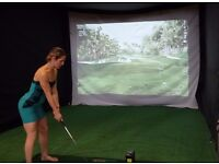 Golf Simulator Hire for Weddings, Parties, Trade Shows, Corporate Events, Golf Days, Product Launch