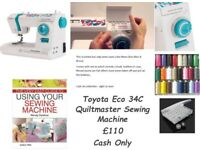Toyota Eco 34C Quiltmaster Sewing Machine - with accessories - hardly used