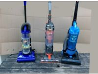 3 Vacuums 1 x Bissell reconditioned 1 x Hoover used 1 x Vax used All motors work no cracks etc