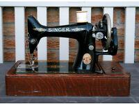 Antique Singer Sewing Machine WORKING 99k 1915