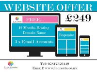 Website Offer ONLY £249 - Graphic Design - Print