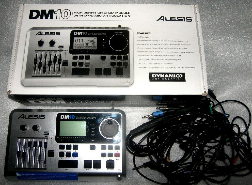 Alesis DM10 , DM 10 High Definition Drum Module for Electronic Drum Kit +  Cables and Power Supply  | in Bristol | Gumtree