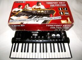 Line 6 Toneport KB37 Keyboard Controller & USB Audio Interface for Guitar , Bass and Microphone.