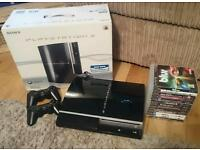 PlayStation 3, 13 games and 2 x controllers