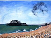 Brighton's 'West Pier with Starling Murmuration' makes an Original Christmas Gift!