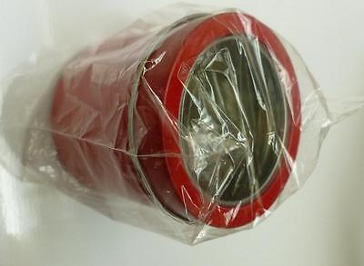 Round See Though Magnetic Tin For Craft Or Kitchen - Red Color