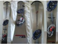 162cm Volant Excel SL Steel Cap hardboot snowboard with Burton Carrier bindings and cant plate.