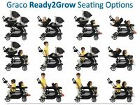 Graco ready to grow double pram