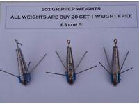 7oz, 6oz & 5oz Breakaway Gripper Sinkers (Weights)