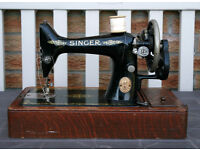 Antique Singer Sewing Machine WORKING